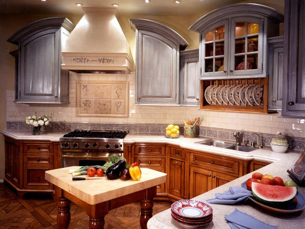 Mixed Kitchen Cabinets Trend Alert - Mixed Cabinet Finishes In The Kitchen