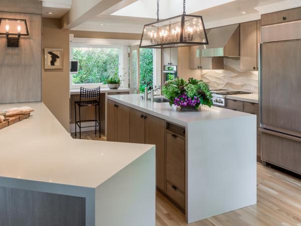 modern waterfall kitchen island countertop Waterfall Kitchen Countertops