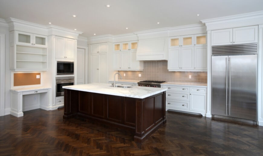 kitchen flooring trends island large five hot to elevate your home design