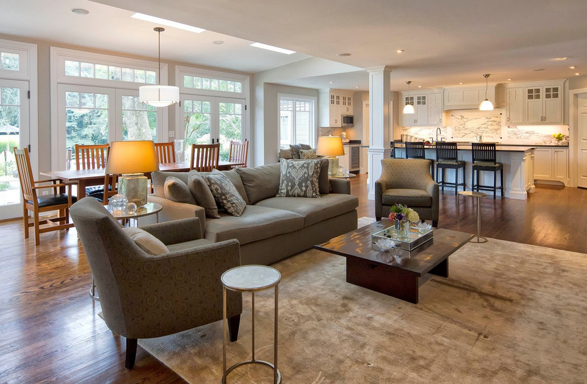 open plan kitchen living room flooring ideas tropical tables 6 great reasons to love an floor