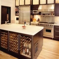 Wine Rack Island Kitchen Mosaic Backsplash Designing A Comfortable For Easy Entertaining
