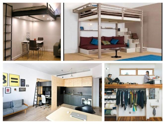 Lofty Loft Beds For Tiny Studio Apartments