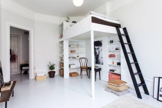 Lofty Loft Beds Tiny Studio Apartment