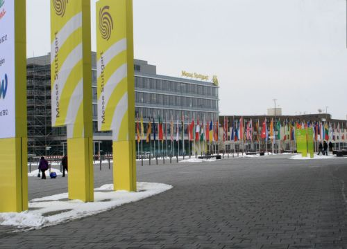 The Trade Fair Centre Stuttgart, close to the airport