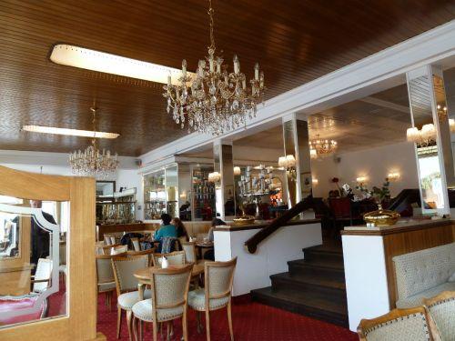Inside Café Krönner in Garmisch