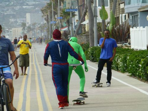 Crazy guys at Mission Beach