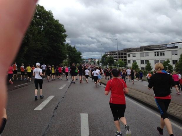 Running 7 km at Stuttgart-Lauf 2014