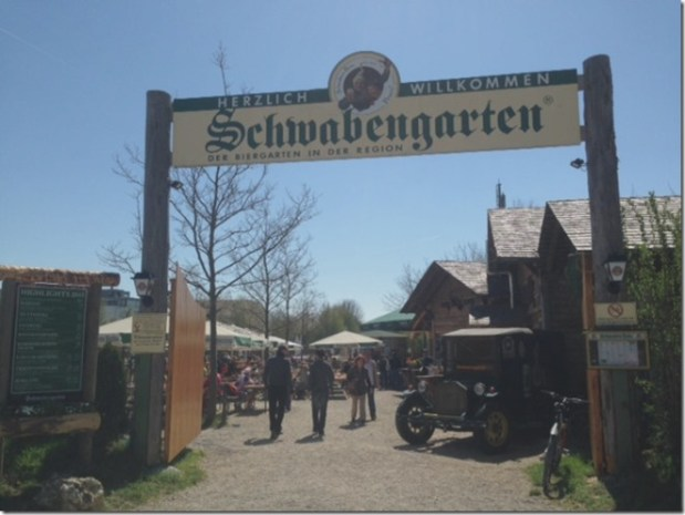 Schwabengarten – a beer garden just outside of Stuttgart