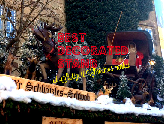 Stuttgart Christmas market: Best decorated stand 2016
