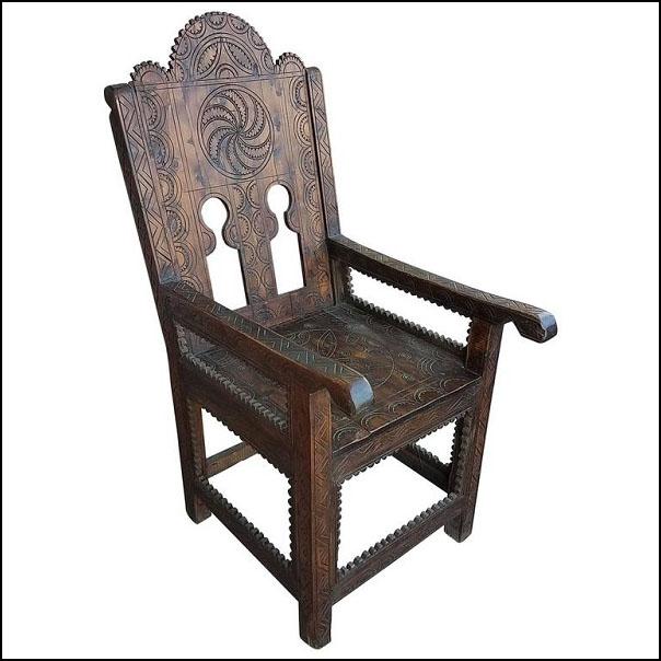 Moroccan Cedar Wood Chair  Living Morocco
