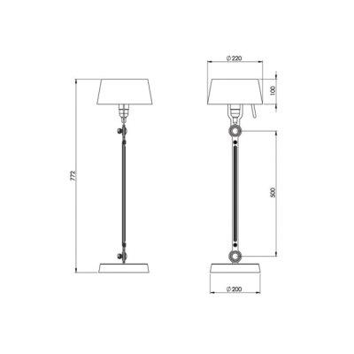 Tonone-Bolt-table-lamp-standard-maat nummer 7