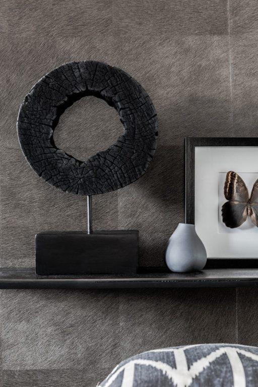 Houten ornament zwart