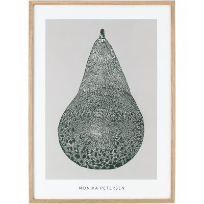 poster pear green framed