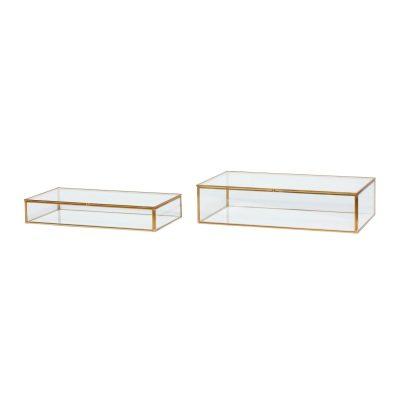 glazen display box 32x17xh6cm