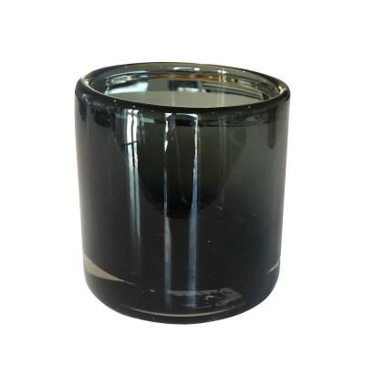 waxinelichthouder zwart glas