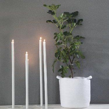 Kandelaar Ekeberga 40cm wit