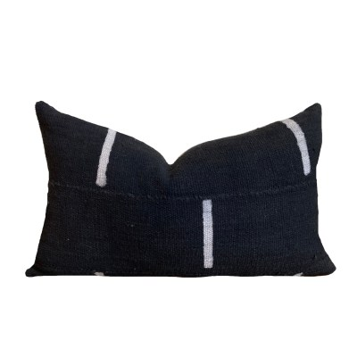 Kussen MUD CLOTH BLACK STRIPES 35X50_1