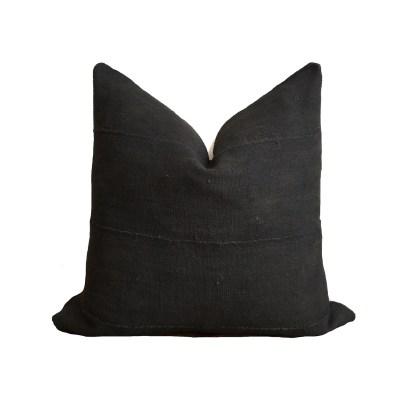 Kussen MUD CLOTH SOLID BLACK 47X47_1