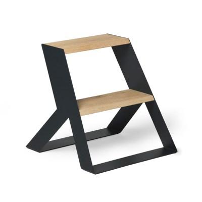 Frederik Roije Split step donkergrijs met hout