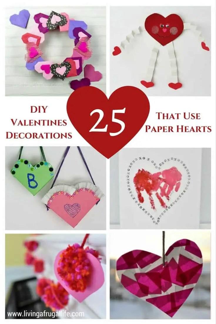 Paper Heart Decorations : paper, heart, decorations, Valentine, Decorations, Paper, Hearts