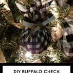Diy Buffalo Check Christmas Tree Ornament Living And Crafting