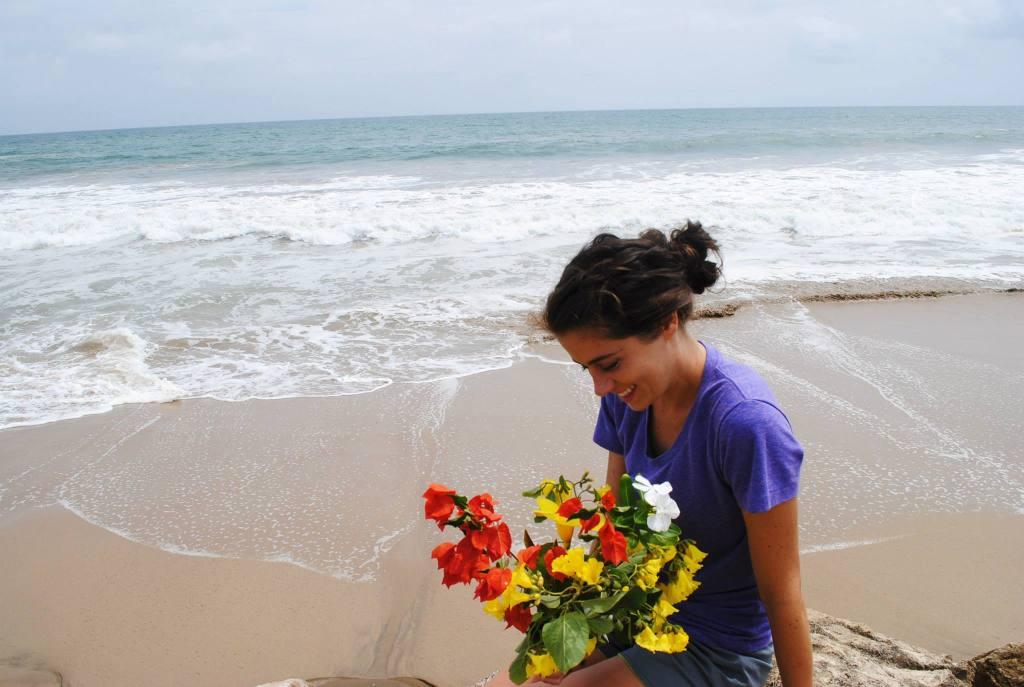 Beautiful Lacy on Manglaralto beach