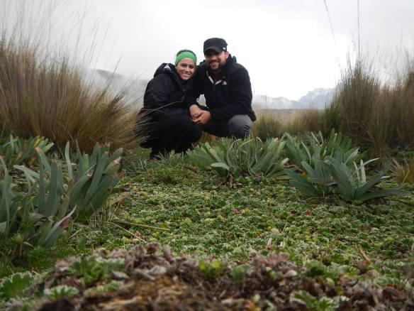 Josh and Lace on the Pichincha Volcano