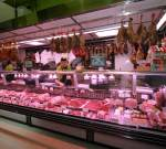 Traditional butchery Gijon selling cachopos and ham