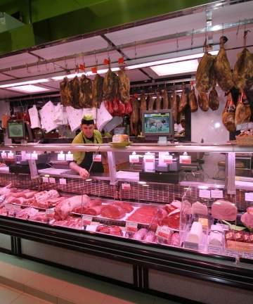 Traditional butchery Gijon selling cachopos and ham