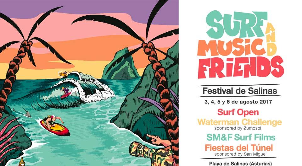 Surf and music festival Salinas, Asturias