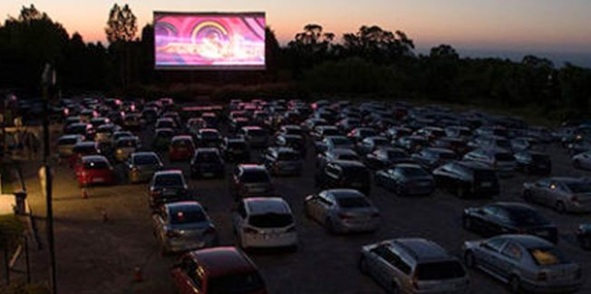 drive in cinema in asturias, spain