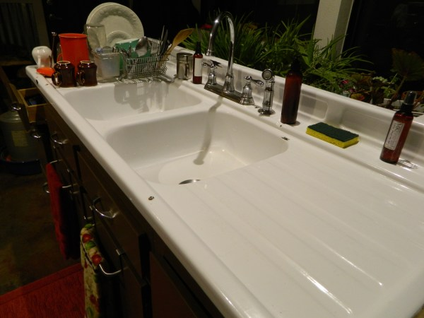 farmhouse kitchen sink with drainboard I Love My Kitchen Sink | Pauper's Candles is Living a Sustainable Dream