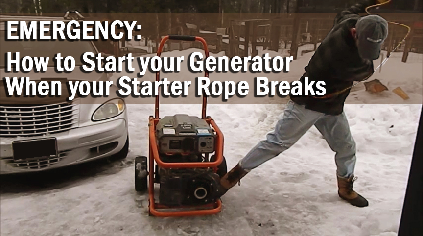 How to start a generator when the pull rope breaks