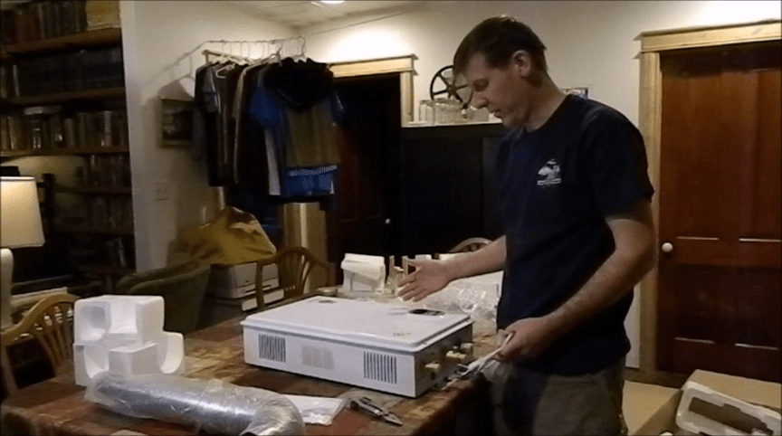 Unboxing our new off grid water heater
