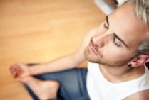 Young--man-meditating