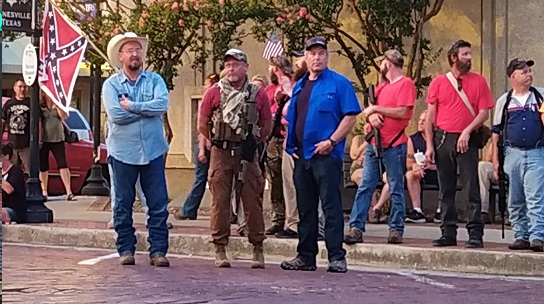Armed White Militia Confronted a Peaceful Protest in Gainesville