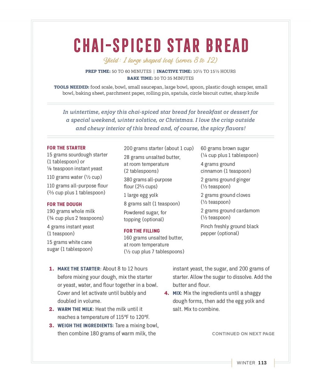 Chai-Spiced Star Bread