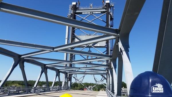View along the bridge from he sidewalk