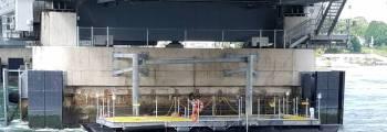 Turbine Deployment Platform Deployed at the Memorial Bridge
