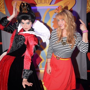 Club Villain with the Queen of hearts