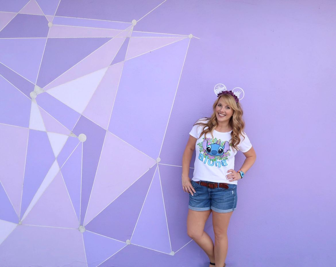 The Purple Wall Walls of Disney Instagram worthy spots photos disney world