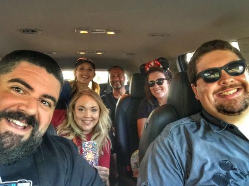 Disney World taxi Minnie Van