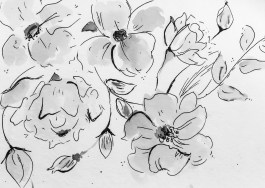 Ink / Watercolor florals