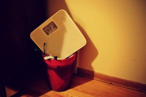 scale in garbage