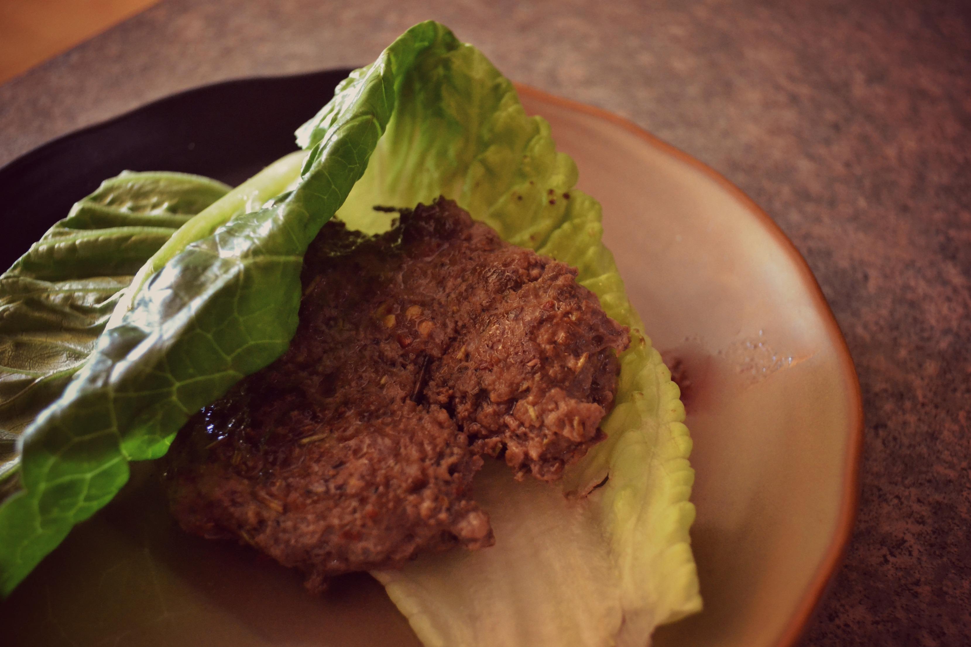 lettuce wrapped liver burger