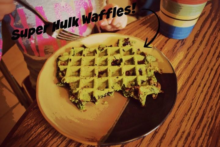 Super Hulk Waffles Labled