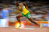 Usain Bolt sprinting