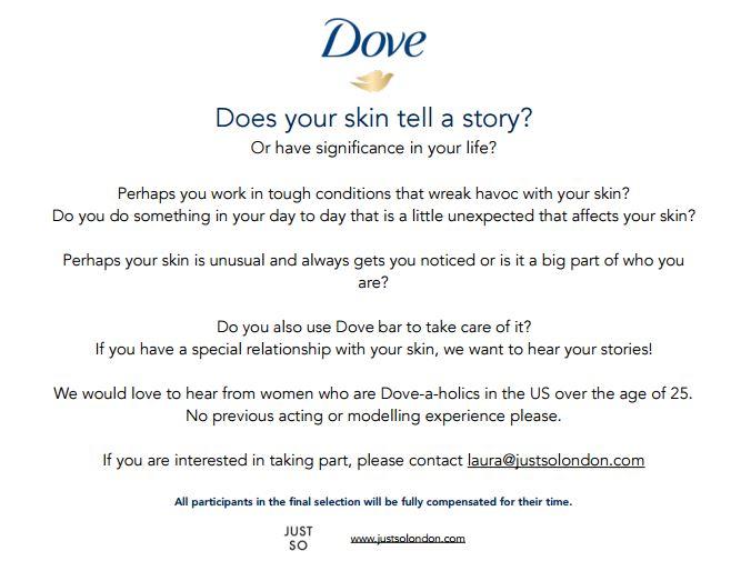 Dove Casting Call