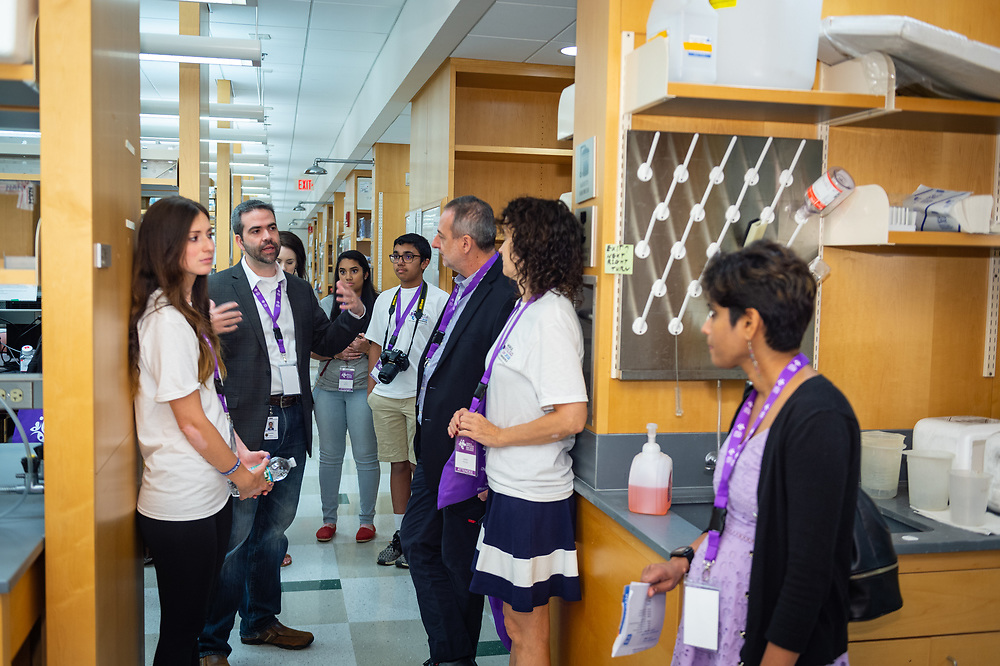 Dr. John Harris gives a tour of the University of Massachusetts's Vitiligo Clinic and Research Center.