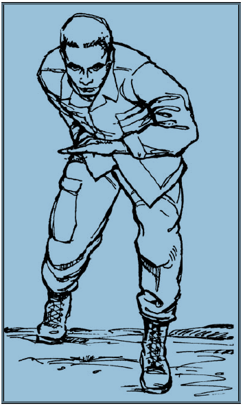 MODIFIED KNIFE FIGHTERS STANCE